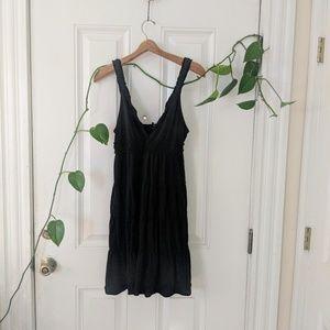 Lucky Brand: flowy black dress